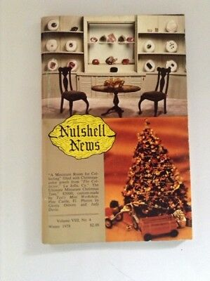 Nutshell News Winter 1978 Rare!!     Dollhouse Miniatures For The Collector