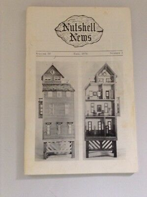 Nutshell News Fall 1974 Magazine Rare Hard To Find  Dollhouse Miniatures