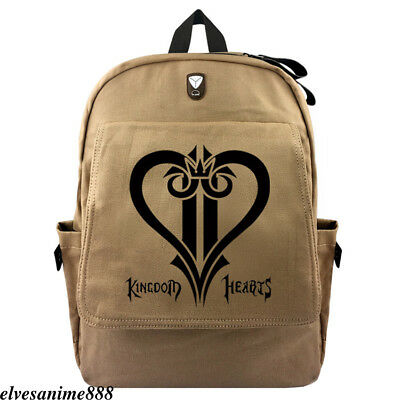 436f31cfbbc Game Kingdom Hearts Sora Backpack School bag Zipper Rucksack Canvas  shoulder bag