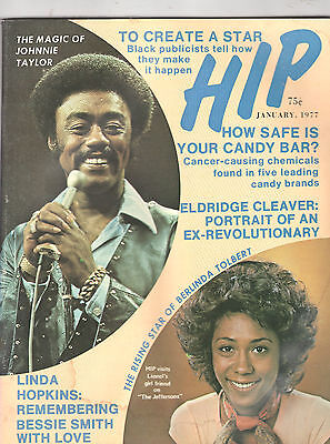 JANUARY 1977 HIP MAGAZINE-VOL. 1 No. 2-JOHNNY TAYLOR-BERLINDA TOLBERT-VERY RARE