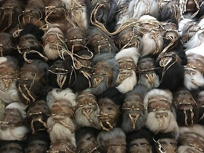 SHRUNKEN HEAD real genuine rawhide leather and hair no skull