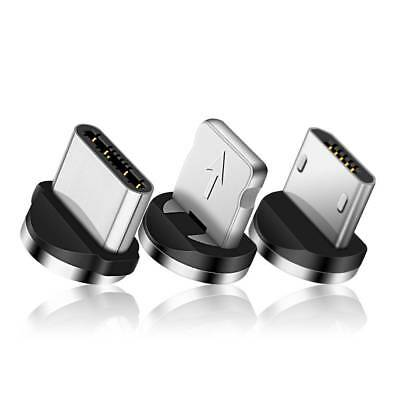 USB Connector Magnetic Adapter Charger For iPhone 7 6 Android Type C Round Cable