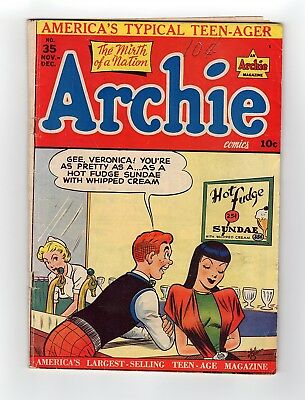 Archie Comics  #35 1948 The Mirth Of A Nation Golden Age Comic