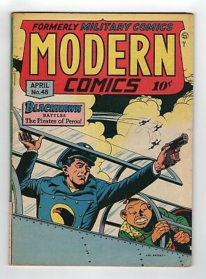 Modern Comics Blackhawk #48 Quality Comics 1946 Golden Age Comic