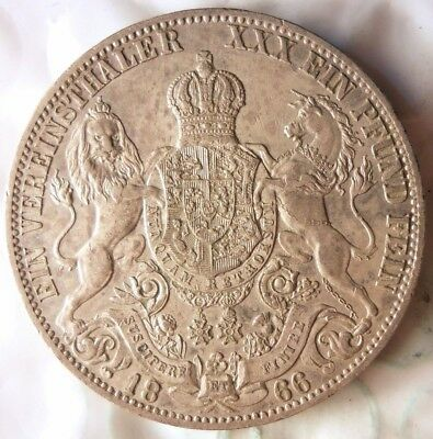 1666 GERMAN STATES (HANNOVER) THALER - AU - VERY Rare Silver Coin - Lot #720