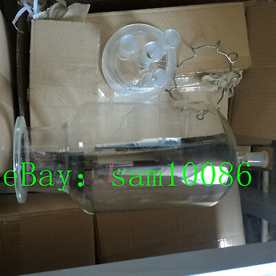 10000ml,24/40,Glass Reactor,Four Necks,Reaction Kettle,Clamp And Lid,Lower mouth