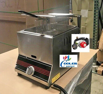 NEW Single Basket Commercial Deep Fryer Model FY9Propane Gas Use Counter Top