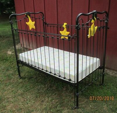 Baby Crib Black Wrought Iron 19th Century Vintage Antique Ohio Local Pickup