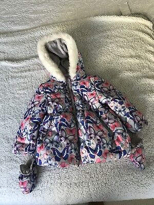 marks and spencer Kids Stormwear Puffer Jacket With Mittens