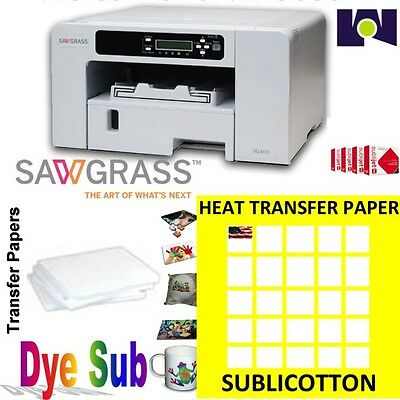 Sawgrass Virtuoso SG400Printer +InkSet CMYK+100 sh SUBLICOTTON+100 Sh Sublipaper