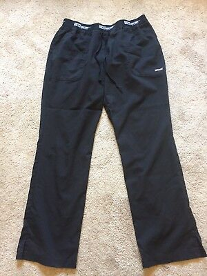 GUC Women's Black GREY'S ANATOMY BY BARCO ACTIVE Scrub Pants Size Large
