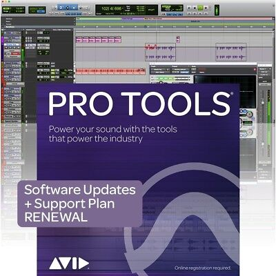 Avid Pro Tools Annual Upgrade Plan Renewal 1 Yr Software + Support 9938-30003-00