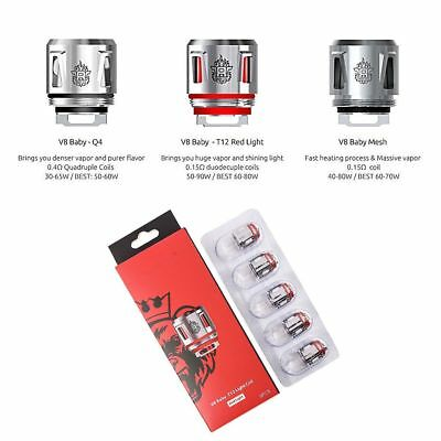 2Pack SMOK TFV12 BABY PRINCE Replacement Coil Heads Q4| V8 Baby MESH | T12 | LED