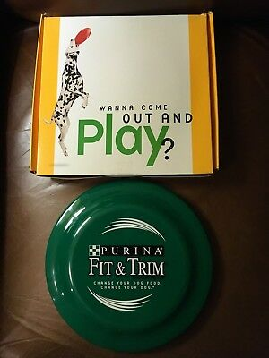 Vintage Purina Fit & Trim Dog Frisbee with Original Box (New)