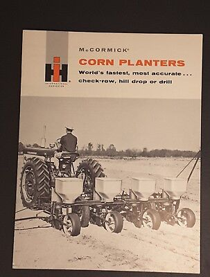 Vintage IH International Harvester McCormick Corn Planters Brochure 2-8 Row