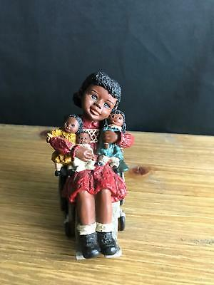 "1993 All Gods Children Martha Holcombe Figurine ""sylvia"" God Is Love Wheelchair"