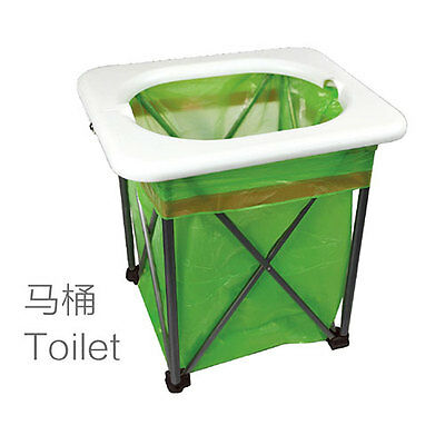 Brother multifunction portable travel outdoor emergency folding toilet trash can