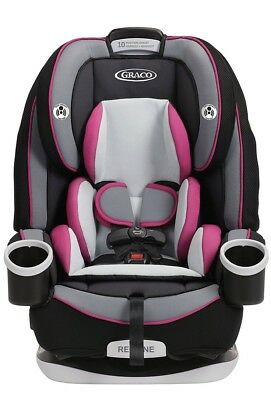 Graco 4Ever All-in-1 Convertible Car Seat, Booster Latch Kylie Pink/Black/Gray