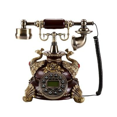 Vintage Antique Style Old Fashioned Retro Handset Old Telephone Office Home-Desk