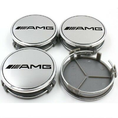 Mercedes Benz AMG Emblem Wheel Center Cap Logo Badge Cover Car Hub 75mm 4pcs/set