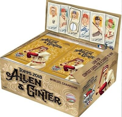 2018 Topps Allen and Ginter Retail Edition Display Box Factory Sealed 24 Packs