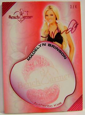 Madely Brinson 3/4 Kiss Card Autograph Hot For Teacher Bench Warmer 2018