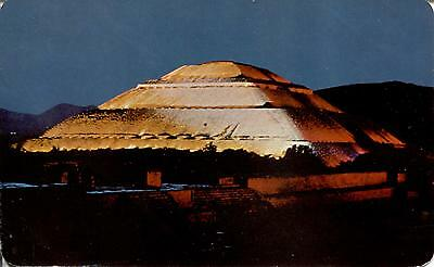 Mexico  -  Teotihuacan - A Pretty Night View of the Pyramid to the Sun  -  1981
