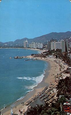 Mexico  -  Acapulco - View of Condesa Beach and various luxury Hotels