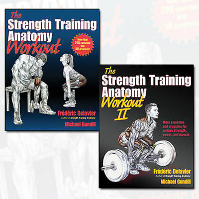 Strength Training Anatomy Workout Volume(1,2) 2 Book Collection Set NEW