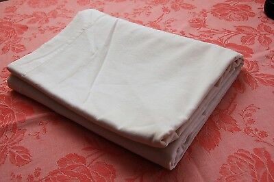 """Vintage French Linen Blend Sheet Panel for PROJECTS Imperfect 64"""" x 112"""" White"""