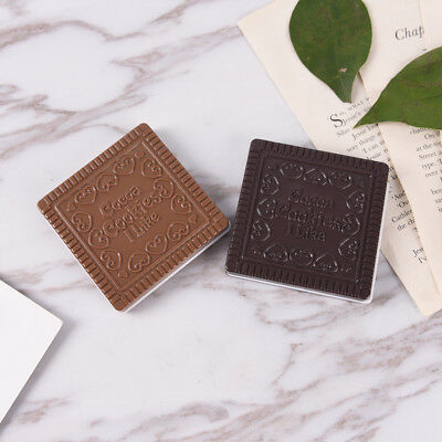 Mini Cute Pocket Magic Chocolate Cookie Compact Makeup Mirror Comb Gift I