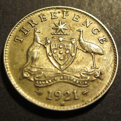 1921 M Australia 3d Threepence ** ERROR ROTATED DIE ** #PW1807-05 =HIGH GRADE=