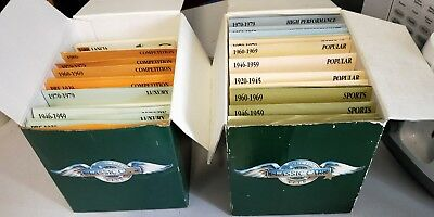 1500 + Classic Cars Collectors Club Cards in 2 Boxes Iris Publishing 1990's