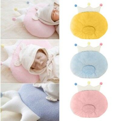 Kids Baby Cute Crown Round Shape Pillow Forming Cotton Pillow Prevent Flat Head