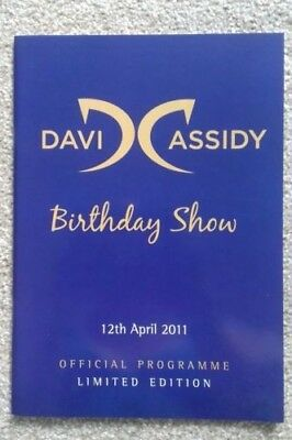 David Cassidy Birthday Show London official limited edition programme 2011