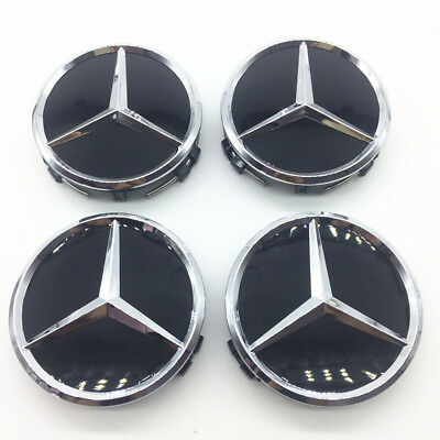 75mm Car Logo Emblem Wheel Center Caps Rim Hub Cap for Mercedes Benz 4pcs/set