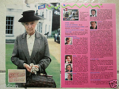 Fiche Miss Marple  Agatha Christie / Joan Hickson