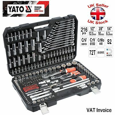 New Professional 216 pcs Ratchet Socket Set 1/2 1/4 3/8 Tools Toolbox YT-38841