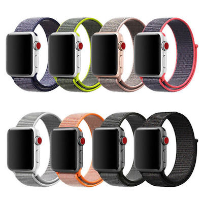 Woven Nylon Sport Loop iWatch Band Strap Bracelet For Apple Watch Series 1 2 3
