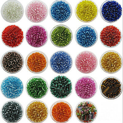 4mm 6/0 Round 100Pcs Czech Glass Seed Spacer Beads Jewelry Making
