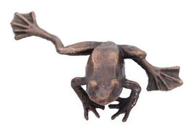 Butler & Peach Detailed Small Solid Hot Cast Bronze Frog