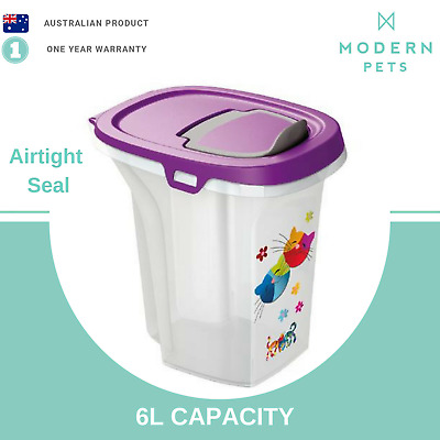 Cat Food Storage Container Small Dog Pet Dry Dispenser Airtight Seal 6L Bin