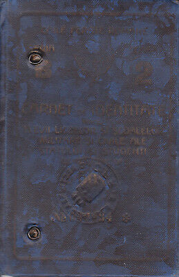 Extremely rare ANTIQUE Romanian Railways CFR ID Card Class 2 1931 for military