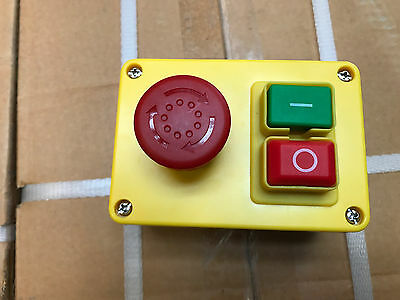 Safety NVR (No Volt Release) Machine Stop/Start & Emergency Stop Switch