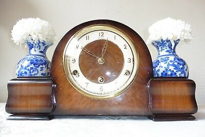 Beautiful Art Deco  Westminster Chiming Mantle Clock ( Working )