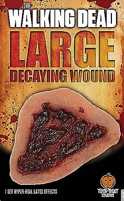 Zombie Costume Accessory, Walking Dead Decaying Open Wound Appliance