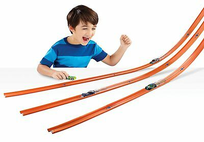 40 Feet Hot Wheels Stunt Track and Builder Play Set Pack w/ Racing Car Toy Kids
