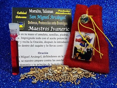 "Amuleto Morralito ""san Miguel Arcangel"" / Talisman Lucky Bag ""michael Archangel"""