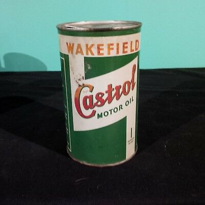 Vintage  Imperial Quart Can Of Wakefield Castrol Motor Oil
