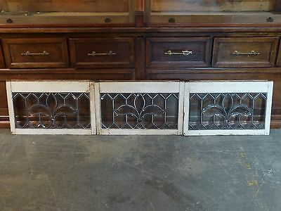 Zipper Cut Fleur-de-lis Beveled Leaded Glass Window
